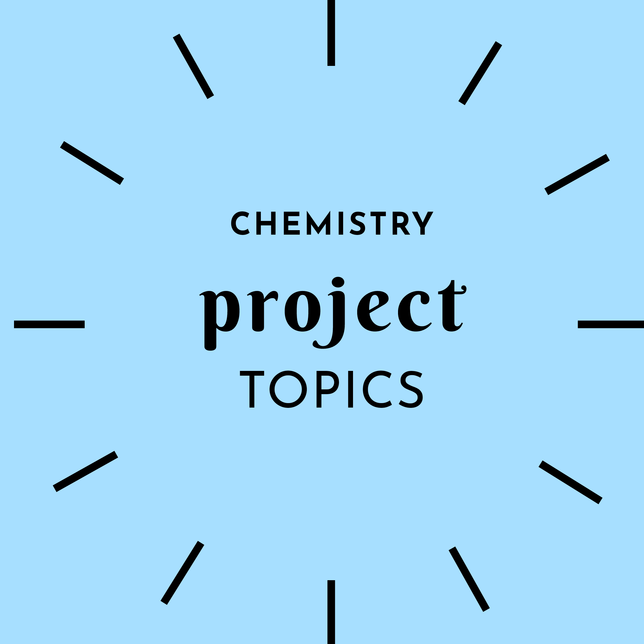 Project topics in chemistry