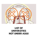 Complete list of Universities not under ASUU