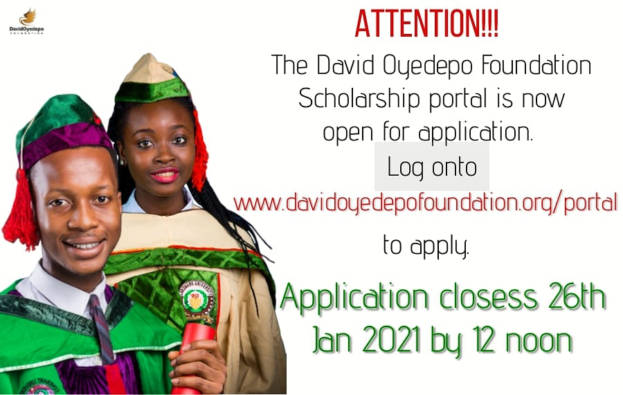 David Oyedepo Foundation Scholarship Program 2021